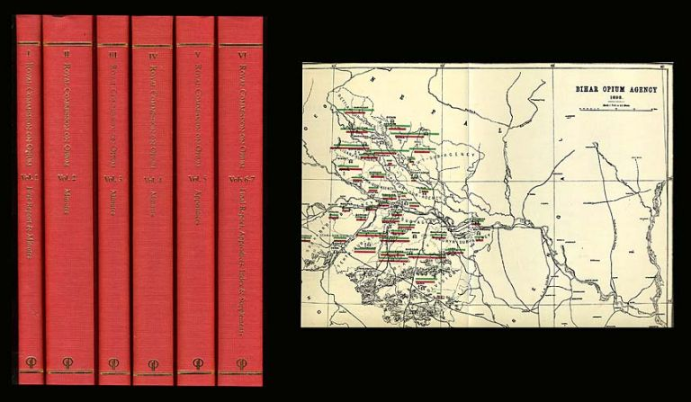 The Royal Commission on Opium, 1893-94: Reports, Minutes of Evidence, and Appendices (Britain in China). SEVEN VOLUMES BOUND AS SIX