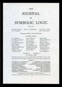 Abstracts of Distinguished Constituents (pp. 323) Semantical Analysis of Modal Logic (pp. 323-324) WITH The Problem of Entailment (p. 324) in The Journal of Symbolic Logic Issue #4, 1959. Saul A. Kripke.