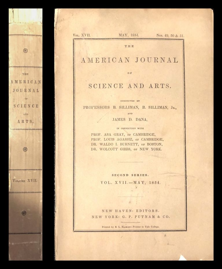 Numerical Relation between the Atomic Weights, with some thoughts on the Classification of the Chemical Elements in American Journal of Science and Arts 17 pp. 387–406, 1854 [ORIGINAL WRAPPERS FORESHADOWING THE NUMERICAL RELATION OF ATOMIC WEIGHTS PRE MENDELEEV]. J. P. Cooke, Josiah Parsons.