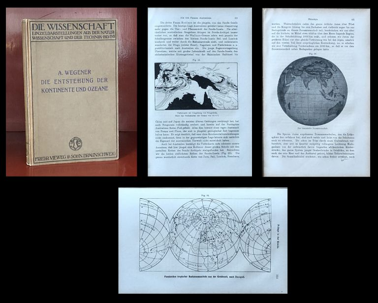 Die Entstehung der Kontinente und Ozeane, 1920 [The Origin of Continents and Oceans] [2nd EXPANDED EDITION ON THE THEORY OF CONTINENTAL DRIFT]. Alfred Wegener.