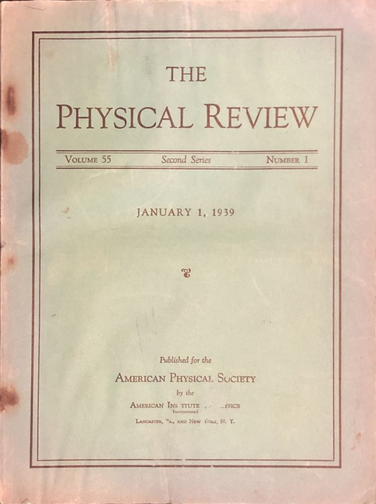 Energy Production in Stars in Physical Review, 55, 1939, pp. 103-104. Hans Bethe.