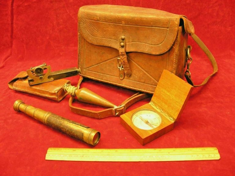 1900s Cased Set of Surveying Instruments Used by a Timber Cruiser in the NW