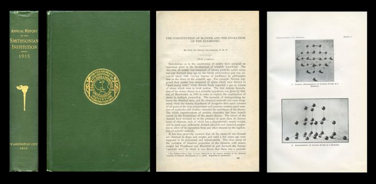 The Constitution of Matter and the Evolution of the Elements, The William Ellery Hale Lecture given to the National Academy of Sciences, Washington, D.C., 1914 in The Annual Report of the Smithsonian Institution for the year ending June 30, 1915, pp. 167-202, (Printed 1916). Ernest Rutherford.