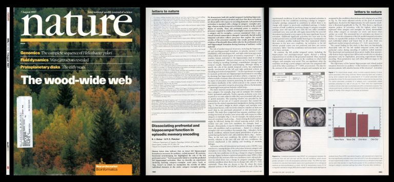 Net Transfer of Carbon Between Ectomycorrhizal Tree Species in the Field, Nature, Volume 388, Issue 6642, August 7, 1997, pp. 579-582 [FIRST EDITION IN ORIGINAL WRAPPERS OF GROUND-BREAKING RESEARCH PROVING THAT TREES COMMUNICATE WITH EACH OTHER]. Suzanne W. Simard, David A. Perry.