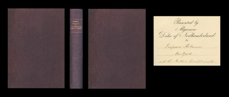 Results of Astronomical Observations Made During the Years 1834, 5, 6, 7, 8, at the Cape of Good Hope; Being the Completion of a Telescopic Survey of the Whole Surface of the Visible Heavens Commence in 1825. London, Smith, Elder and Co., 1847 [INSCRIBED PRESENTATION BY AUTHOR. FIRST EDITION. 1st GREAT STAR ATLAS OF THE SOUTHERN HEMISPHERE]. John Frederick William Herschel.