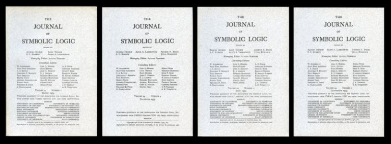 """A Completeness Theorem in Modal Logic"" WITH Abstracts of ""Distinguished Constituents"", ""Semantical Analysis of Modal Logic"", ""The Problem of Entailment"" in The Journal of Symbolic Logic Vol. 24, Issue No. 1, March 1959 pp. 1-14 WITH Vol. 24, Issue No. 4, Dec. 1959 pp. 323-324. Saul A. Kripke."