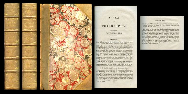 """Essay on the Cause of Chemical Proportions, and on some Circumstances Relating to them: together with a short and easy way of expressing them"" in Annals of Philosophy, or Magazine of Chemistry, Mineralogy, Mechanics, Natural History, Agriculture and the Arts 3 (III), pp. 443–454, 1813 and 3 pp. 51–62, 93–106, 244–255, 353–364, 1814 WITH ""Experiments on the Nature of Azote, of Hydrogen, and of Ammonia, and upon the Degrees of Oxidation of which Azote is susceptible"" in Annals of Philosophy, or Magazine of Chemistry, Mineralogy, Mechanics, Natural History, Agriculture and the Arts 2 (II), pp. 276–284 and 357–368, 1813. Jöns Jacob Berzelius, Jons Jacob."