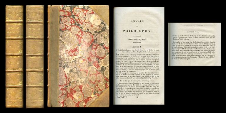 On the Relation between the Specific Gravities of Bodies in their Gaseous State and the Weights of their Atoms in Annals of Philosophy; or, Magazine of Chemistry, Mineralogy, Mechanics, Natural History, Agriculture and the Arts 6, July–December 1815, pp. 321–330 WITH Correction of a Mistake in the Essay on the Relation between the Specific Gravities of Bodies in their Gaseous State and the Weights of their Atoms in Annals of Philosophy; or, Magazine of Chemistry, Mineralogy, Mechanics, Natural History, Agriculture and the Arts 7, 1816, pp. 111–113, 1816. William Prout.