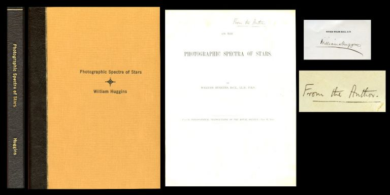 On the Photographic Spectra of Stars, offprint from The Philosophical Transactions of the Royal Society, Volume 171, 1880, pp. 669-690. William Huggins.