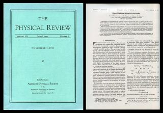 """Exact Nonlinear Plasma Oscillations"" in Physical Review 108, 3, pp. 546-551, 1 November 1957. Ira B. Bernstein, John M. Greene, Martin D. Kruskal."