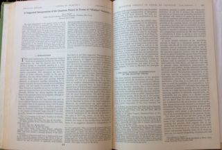 A Suggested Interpretation of the Quantum Theory in Terms of Hidden Variables, Parts I and II, in The Physical Review, 85 (1952) [HIDDEN VARIABLES APPROACH TO QUANTUM THEORY]