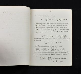 Statistical Thermodynamics. Course of Seminar Lectures. Delivered in January - March 1944, at the School of Theoretical Physics, 1944 [SCARCE HECTOGRAPHIC PRINTING]