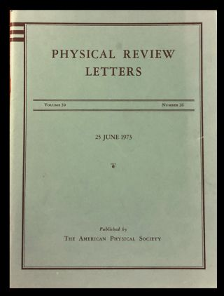Ultraviolet Behavior of Non-Abelian Gauge Theory in Physical Review Letters 30, Issue 26, 25 June...