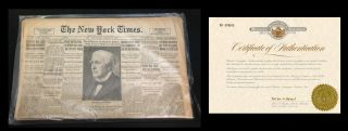 Einstein's tribute upon the death of Thomas Alva Edison in New York Times, October 19, 1931...