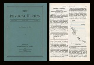 Observation of Antiprotons in Physical Review 100 Issue 3 pp. 947-950, November 1, 1955; WITH...