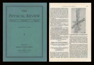 Observation of Antiprotons in Physical Review 100 Issue 3 pp. 947-950, November 1, 1955; WITH Antiproton Star Observed in Emulsion Physical Review 101 pp. 909, January 15, 1956
