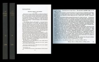 """Practical Forms of Type Theory"" in Journal of Symbolic Logic, Volume 13, Number 2, June 1948,..."