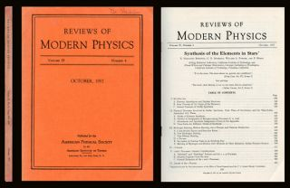 """Synthesis of the Elements in Stars"" in Reviews of Modern Physics 29, October 1957, pp. 547-650. E. Margaret Burbidge, G. R. Burbidge, William A. Fowler, Hoyle F."