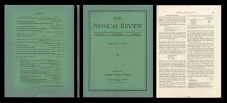 """Energy Production in Stars"" in Physical Review, 55, 1939, pp. 103-104. Hans Bethe."