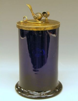 Mid 19th c Cobalt Glass Dobereiner Hydrogen Lighter