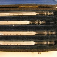 Cased Set of Precision Thermometers