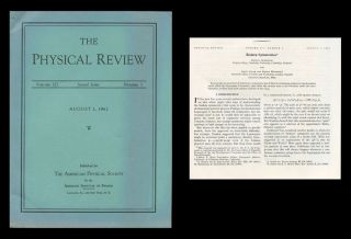 Broken Symmetries in Physical Review 127 No. 3, August 1, 1962, pp. 965–970. Jeffrey Goldstone,...
