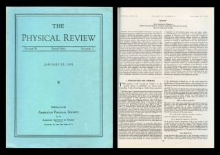 Geons in Physical Review 97 No. 2, January 15, 1955, pp. 511-535. John Wheeler
