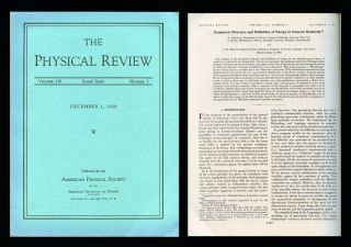 """Dynamical Structure and Definition of Energy in General Relativity"" in Physical Review 116 No. 5, December 1, 1959, pp. 1322–1330. Richard Arnowitt, Stanley Deser, Charles Misner."