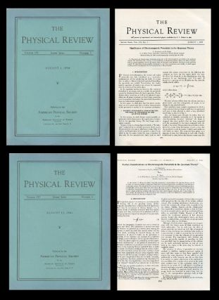 """Significance of Electromagnetic Potentials in the Quantum Theory"" AND ""Further Considerations on Electromagnetic Potentials in the Quantum Theory"" in Physical Review Volume 115 (3) Aug. 1, 1959, pp. 485-491 AND Volume 123 (4) August 15, 1961, pp. 1511-1524. Y. Aharonov, D. Bohm."