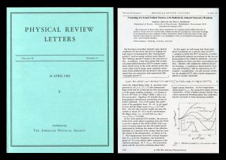 """Cosmology For Grand Unified Theories With Radiatively Induced Symmetry Breaking"" in Physical Review Letters 48 Issue 17 26 April 1982, pp. 1220-1223"