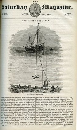 On Diving WITH The Diving Bell. Part I WITH The Diving Bell. Part II, Spalding's Diving-Bell in Saturday Magazine, Volume 14 and Volume 15, January to December. March 9th, 1839; April 20th 1839; May 25th 1839. Pp. 95-96; pp. 145-147; pp. 199-200