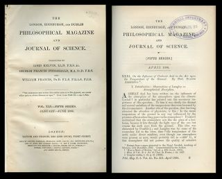 """On the Influence of Carbonic Acid in the Air upon the Temperature of the Ground"" in The London, Edinburgh, and Dublin Philosophical Magazine and Journal of Science 41, January to June 1896, pp. 237-276"