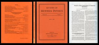 Relative state formulation of quantum mechanics, in Reviews of Modern Physics, 29, 1957, 454-462...