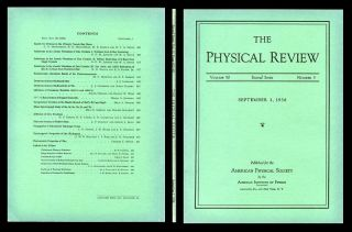 Gyromagnetic Properties of the Hydrogens in Physical Review Volume 50, 5, September 1, 1936, pp....