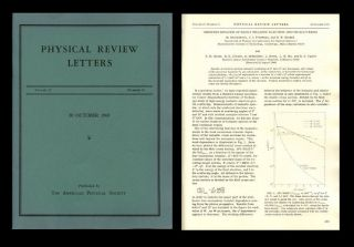 """Observed Behavior of Highly Inelastic Electron-Proton Scattering"" WITH ""High-Energy Inelastic e-p Scattering at 6(deg) and 10(deg)"" in Physical Review Letters 23 Issue 16, October 20, 1969, pp. 930-939"