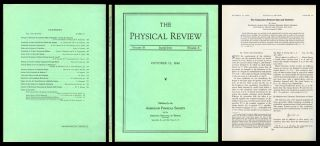 The Connection Between Spin and Statistics in Physical Review, Volume 58, Second Series, Number...