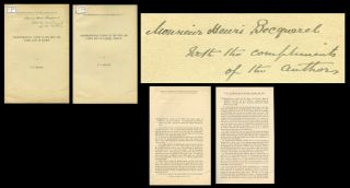 """Phosphorescence Caused by the Beta and Gamma Rays of Radium"" Part I (Inscribed) AND ""Phosphorescence Caused by the Beta and Gamma Rays of Radium"" Part II; 2 Offprints from The Proceedings of the Royal Society, 74, 1905, pp. 506-510; pp. 511-518. G. T. Beilby, Sir George Thomas."