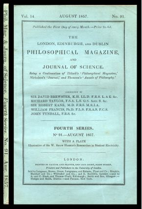 """On the Nature of the Motion We Call Heat"" in The London, Edinburgh, and Dublin Philosophical Magazine and Journal of Science 14, No. 91, August 1857, pp. 108–127"