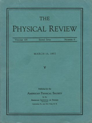 Report on Long-Lived K0 Mesons in Physical Review 105, March 15, 1957, pp. 1925 – 1927. K....