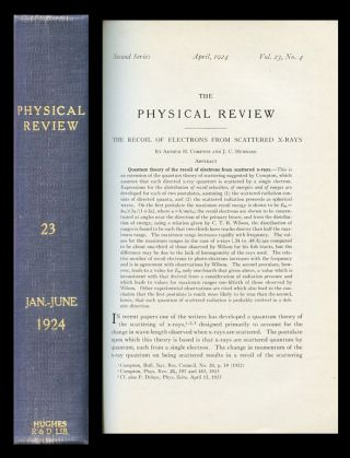 The Recoil of Electrons from Scattered X-Rays, in Physical Review 23, 4, 1924, pp. 439-449....