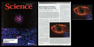 """Optical Images of an Exosolar Planet 25 Light-Years from Earth"" in Science, 322, 5906, 28 November, 2008, pp. 1345-1348. Paul Kalas, James R. Graham, Eugene Chiang."