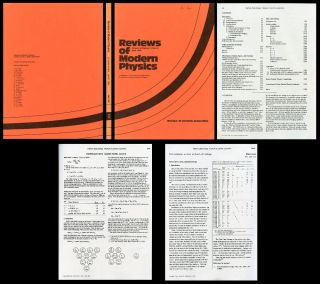 Review of Particle Properties in Reviews of Modern Physics, Vol. 56, No. 2, Part II, April 1984....