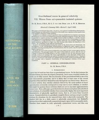 """Gravitational Waves in General Relativity. VII. Waves from Axi-Symmetric Isolated Systems"" in Proceedings of the Royal Society A 269, pp. 21-52, 1962. Hermann Bondi, M. G. J. van der Burg, A. W. K. Metzner."